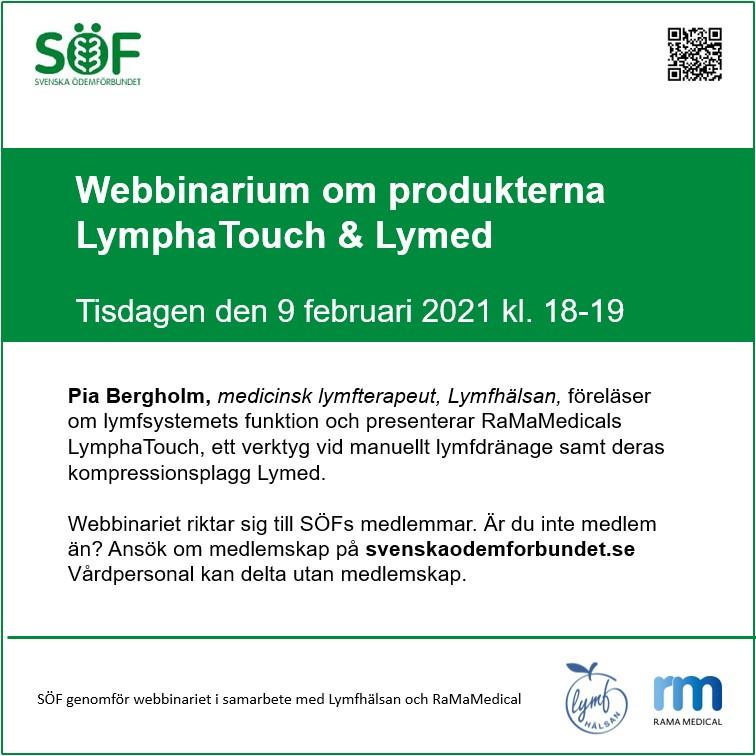 Webbinarium om lymfsystemet, LymphaTouch och LyMed